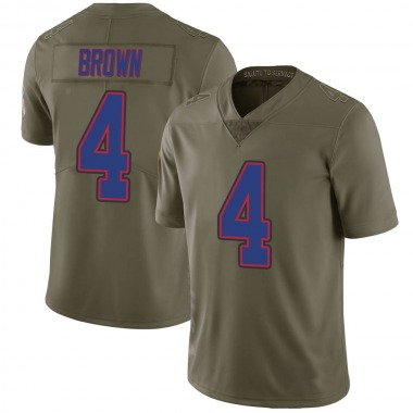 Men's Nike Buffalo Bills Isaiah Brown 2017 Salute to Service Jersey - Green Limited