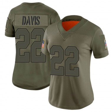 Women's Nike Buffalo Bills Vontae Davis 2019 Salute to Service Jersey - Camo Limited