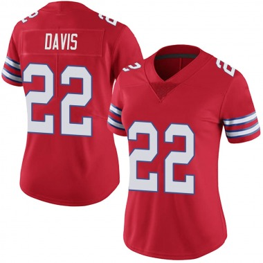 Women's Nike Buffalo Bills Vontae Davis Color Rush Vapor Untouchable Jersey - Red Limited