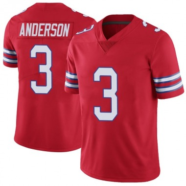 Youth Nike Buffalo Bills Derek Anderson Color Rush Vapor Untouchable Jersey - Red Limited